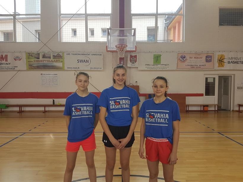 Liana Užovičová, Nina Dudonová a Alžbeta Žemlová súčasťou ďalšieho kempu pre dievčatá do 14 a 15 rokov