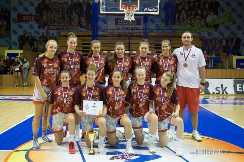 Basketbalové kadetky na MSR v Košiciach tretie !