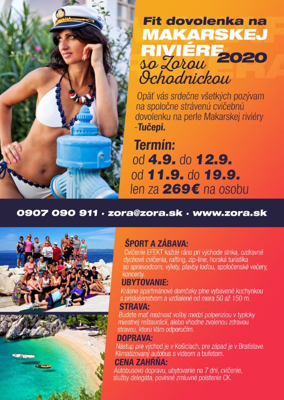 FIT DOVOLENKA na Makarskej riviére september 2020